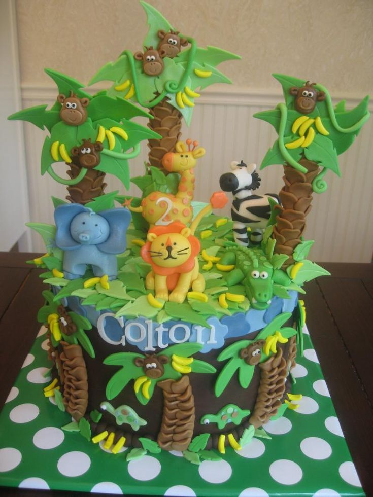 232 best images about animal cakes on pinterest jungle animals on jungle birthday cake design