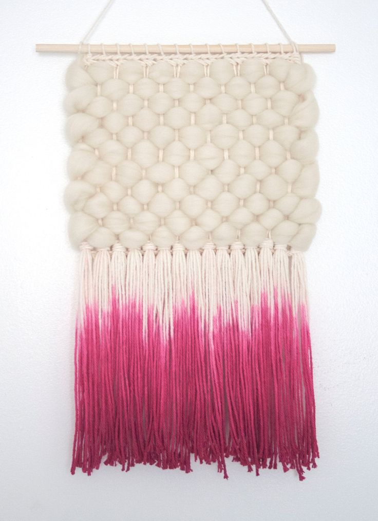 Tejido del colgante de pared DIP-teñido tejido por UnrulyEdges