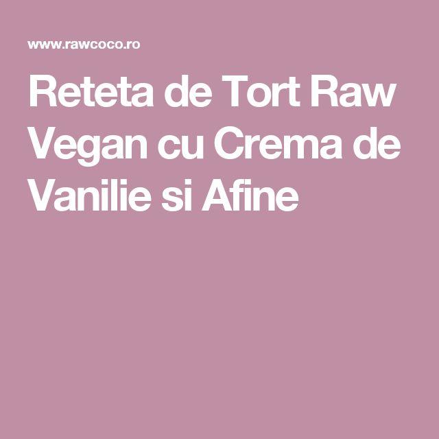Reteta de Tort Raw Vegan cu Crema de Vanilie si Afine