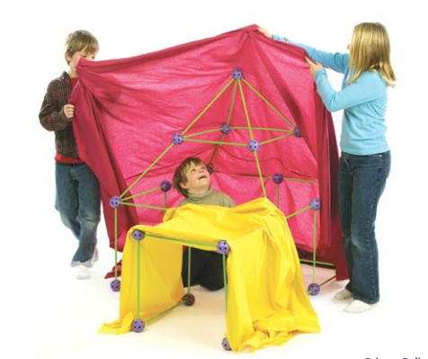 Crazy Fort Fort making kit that contains 25 geometrically precise balls and 44 sticks that connect to create a multitude of possible play structures.  sc 1 st  Pinterest & 23 best Fort ideas images on Pinterest | Blanket forts Toys and ...
