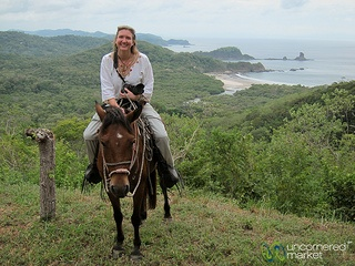 Taking to the hills on horseback at Morgan's Rock in Nicaragua.