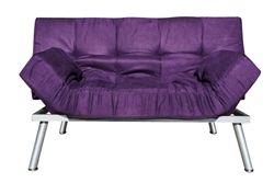 The College Cozy Sofa Mini-Futon Purple Dorm Furniture