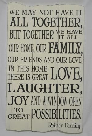 Family Quote - Custom Subway Style Panel Sign - Shabby Chic, Rustic, Antique. $60.00, via Etsy. by savannah