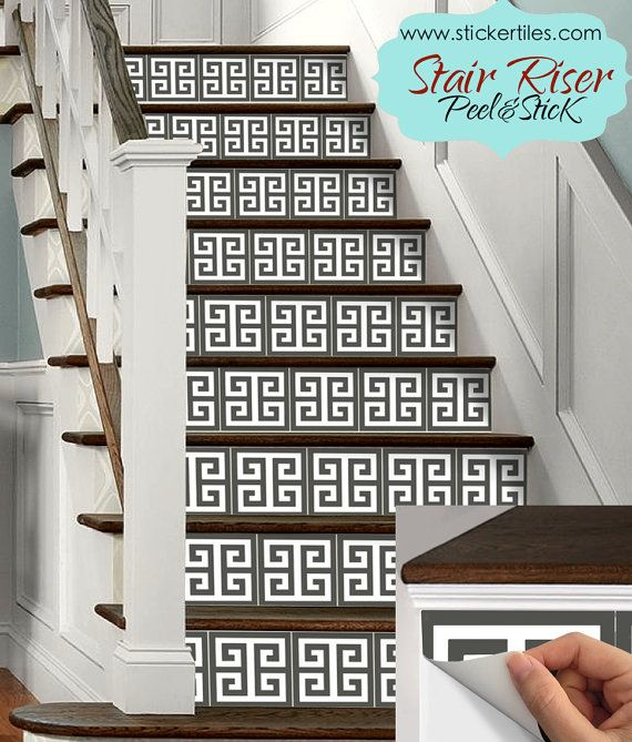 Stair Riser Vinyl Decal Removable Sticker Peel And By SnazzyDecals