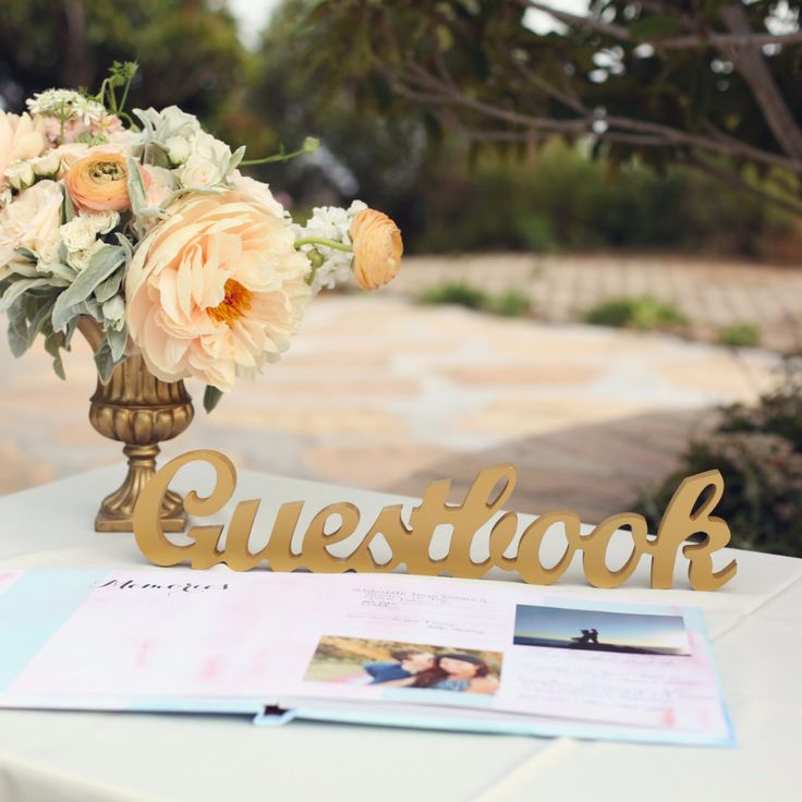 guestbook sign for wedding table