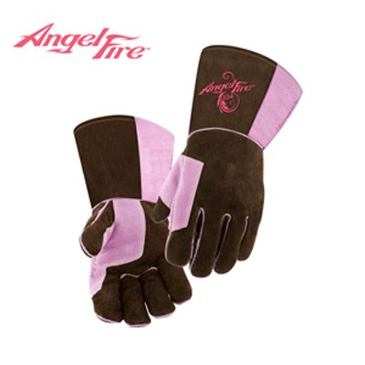 Charm and Hammer:Premium Stick MIG Brown-Pink Welding Gloves