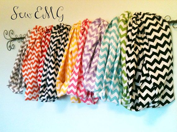 Chevron Infinity Scarves by SewEMG on Etsy, $15.50