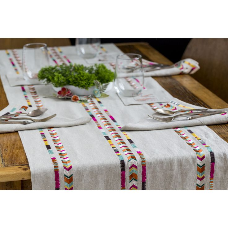 Coral and Tusk - chevron table runner: Home Products, Coral, Chevron Tablecloths, Chevron Table Runners, Products Inspiration, Chevron Tables Runners, Embroidered Napkins, 1 718 388 4188 Photography, Tablecloths Runners