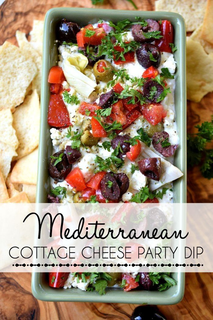 Easy Entertaining: Mediterranean Party Dip. Perfect for fall get togethers and game day parties! Click through for the recipe. #ad #supercurds