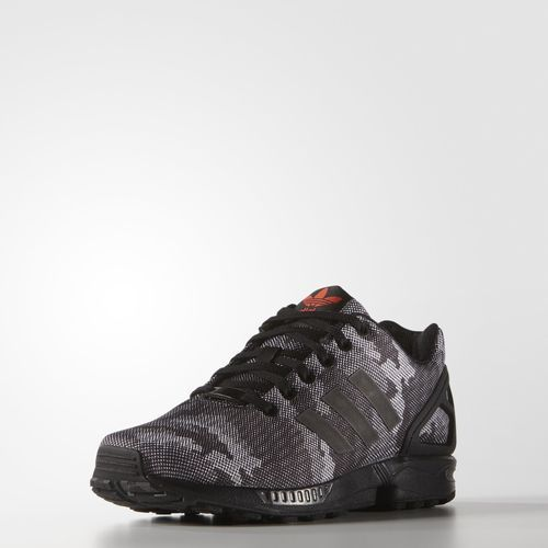 18ba38968e5ed adidas ZX Flux Snow Camo Shoes - Black