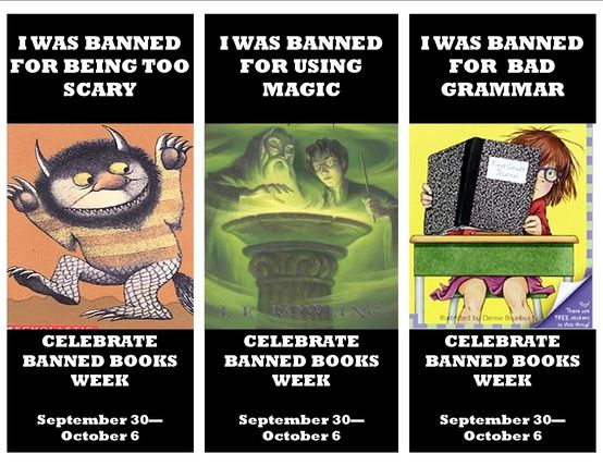 Banned book week bookmarks from lauren gibaldi - The Junie B. Jones series was banned? Seriously?!