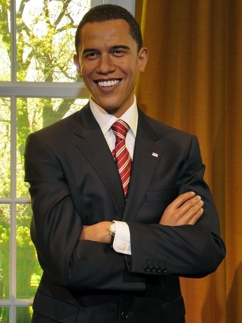 Come and see President Barack Obama's wax figure at Madame Tussauds London