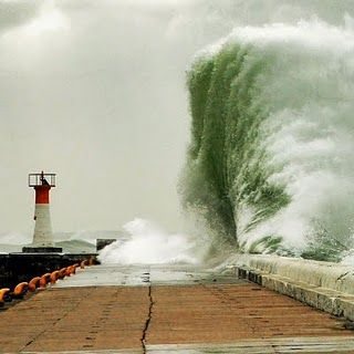 Stormy weather. Kalk Bay. Western Cape. South Africa