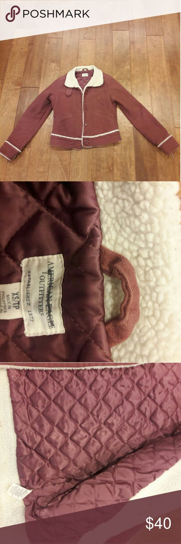 American eagle  jacket Soft pink ,jacket button down front American Eagle Outfitters Jackets & Coats Utility Jackets