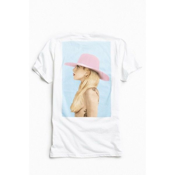 Lady Gaga Joanne Tee (162090 PYG) ❤ liked on Polyvore featuring men's fashion, men's clothing, men's shirts, men's t-shirts, mens graphic t shirts, mens crew neck t shirts, j crew mens shirts, mens cotton shirts and urban outfitters mens shirts