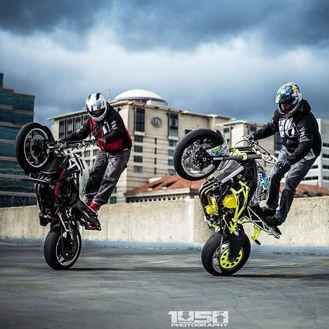 Stunt Bikes Red & Lime Green