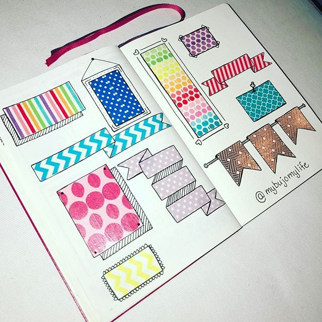 Washi tape banners