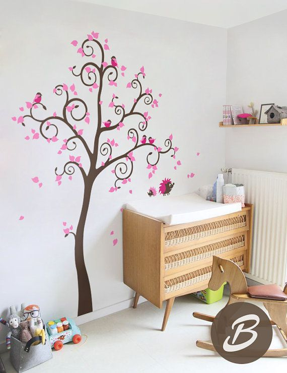 Captivating Large Wall Sticker For Nursery Tree Decal By TheAmeliaDesigns Design Inspirations