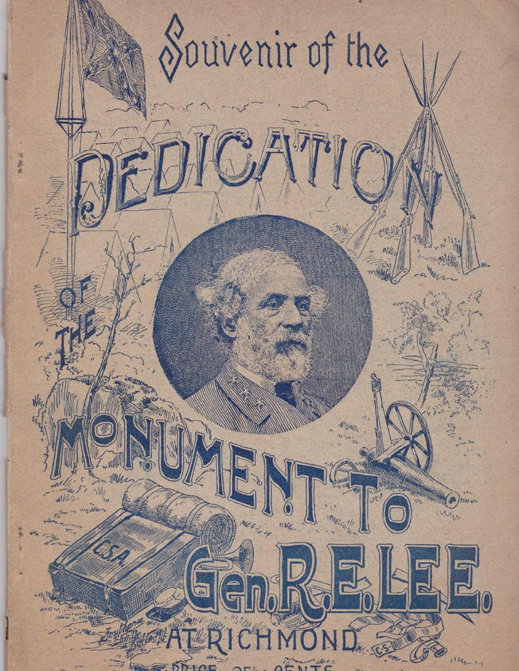 1890  Program of The Dedication of The Monument To Gen.Robert E.Lee