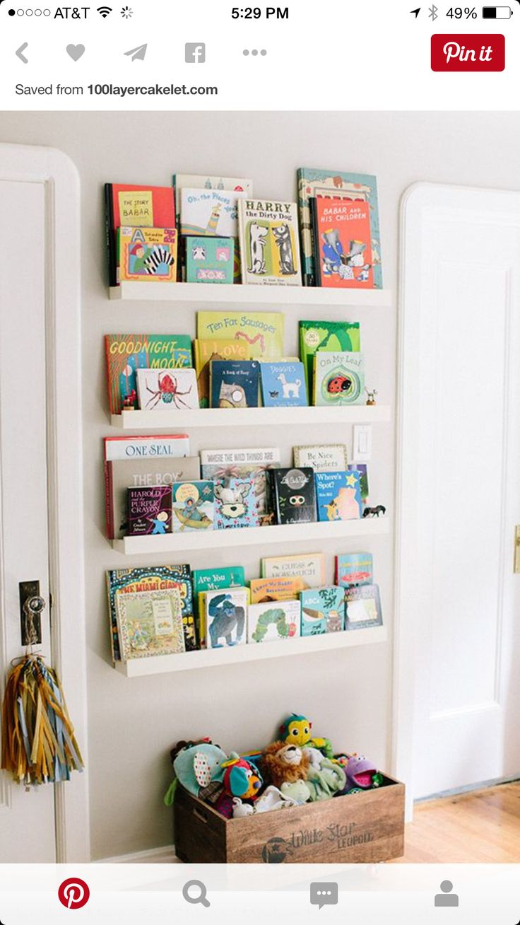 best  book ledge ideas on pinterest  baby bookshelf picture  - this is what i want for our library themed nursery nursery bookshelfnurserystoragebaby