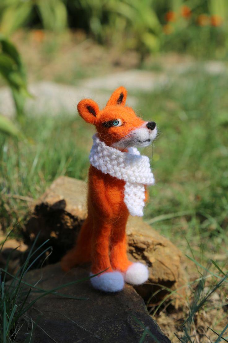 Needle felted fox. by donidinadya on Etsy