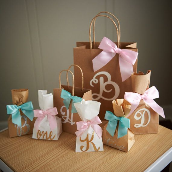 Gift Bags For Bridesmaids Small White Paper Bags With