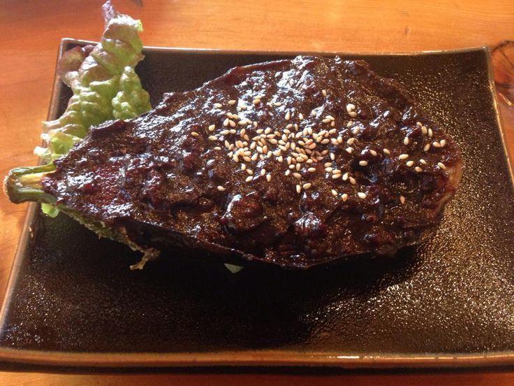 栃木のそば処『大越路』です。蕎麦も美味しいですが蕎麦とお供に『米茄子の田楽』がオススメです!  http://bloooger.jp/okoeji/  #栃木…