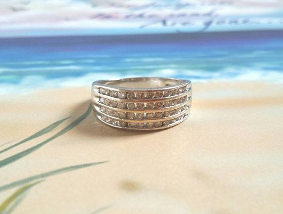 Hey, I found this really awesome Etsy listing at https://www.etsy.com/ca/listing/263052371/sale-diamond-band-wedding-ring-statement