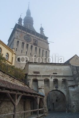 tower clock in Sighisoara