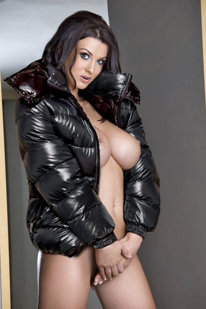 sexy naked girls wearing jackets