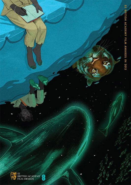 Jonathan Burton's 'Life of Pi' Poster. for 2013 BAFTA brochures. Snippet of my favourite part of the movie.