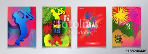 Vector: Hello Summer Festival 2018 music, jazz, pop, disco, dance, club, Holiday colorful modern poster, flyer, brochure cover layout vector. Abstract composition dynamic shapes modern design template.