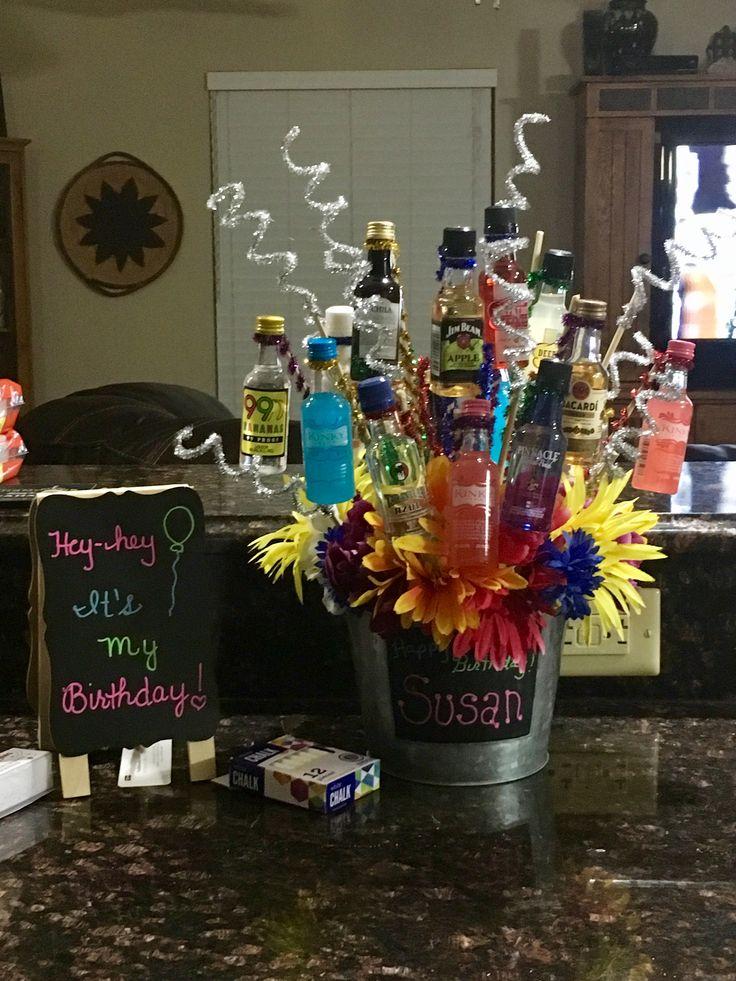 Birthday shot bouquet