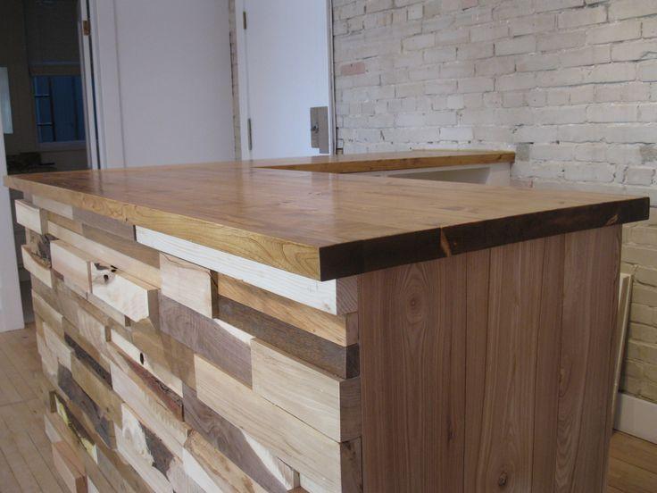 Salvaged wood Retail cash desk