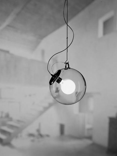 the lighting collection. the miconos collection was designed by ernesto gismondi former aeronatucs engineer who went on to found artemide back in glassglobeencased bare lighting u