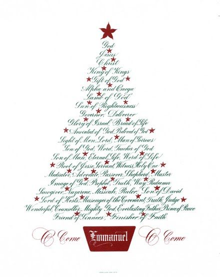 The Names Of JESUS On A Christmas Tree! Celebrate the Birth Of Our Savior!