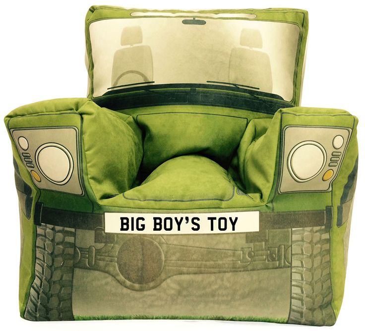Not only do they do these for kids, they do them for adults too! http://www.bangtidyclothing.co.uk/custom-bean-bags-224-c.asp #landrover