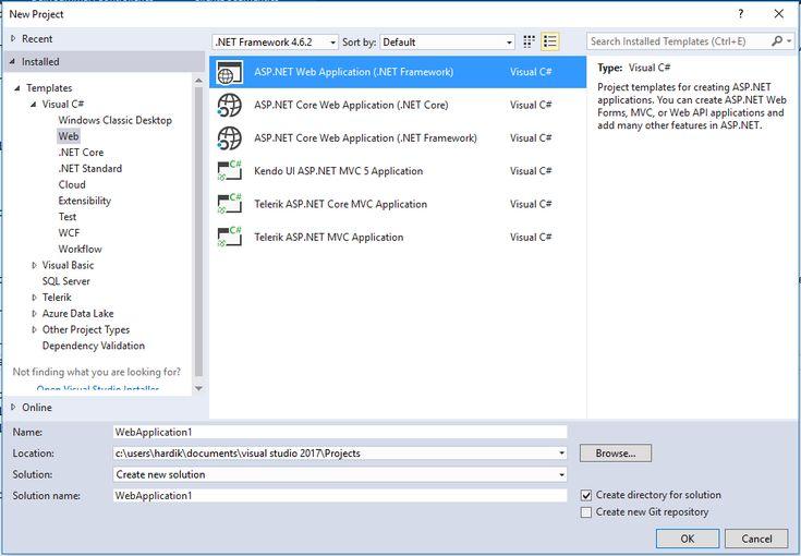 how to start asp.net web application