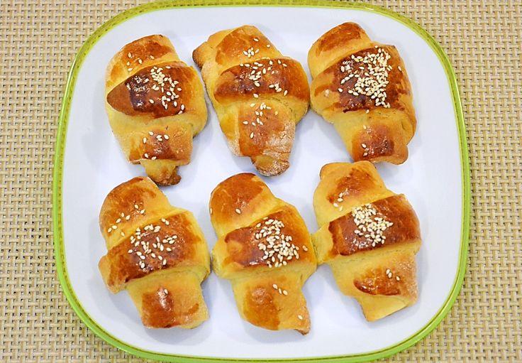 Cornulete din aluat de cozonac / Croissants