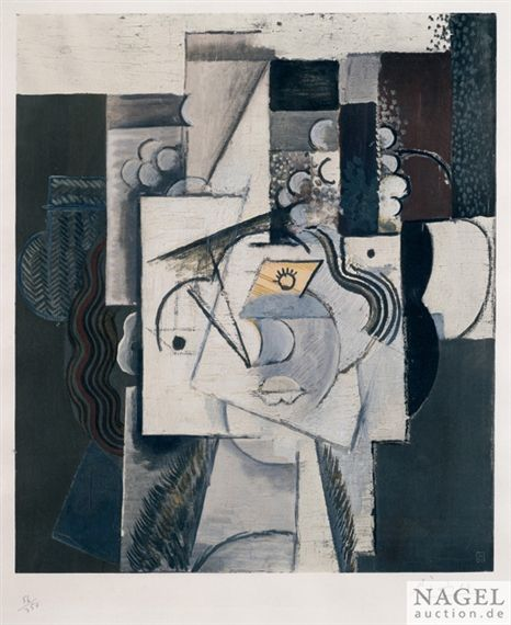 Artwork By Pablo Picasso Le Chapeau Aux Raisins Made Of Collotype And Pochoir On
