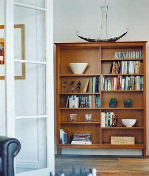 Trenail Bookcase  4 fixed, 6 adjustable shelves