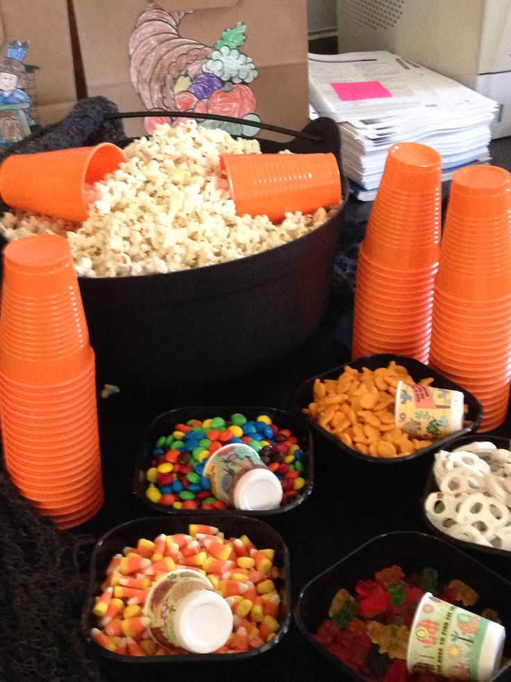 pop corn bar cool idea for kids