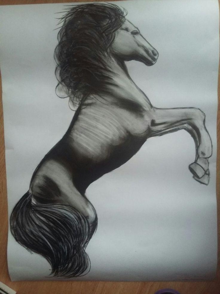 Horse. Pastels.