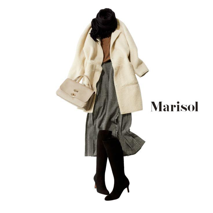 3大アイテムで完成!40代愛され女子になるための防寒対策コーデ【2017/12/4コーデ】Marisol ONLINE|女っぷり上々!40代をもっとキレイに。