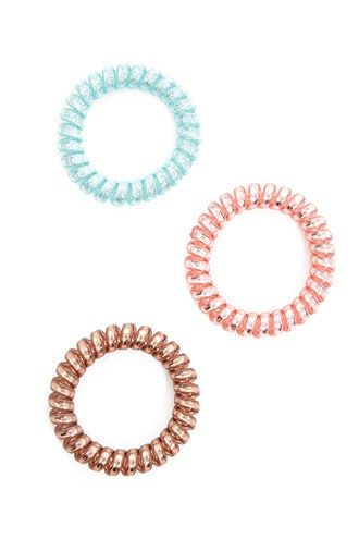 Spiral Hair Tie Set  f1f8f7dbdbb
