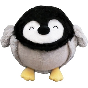 Mini Squishable Penguin Chick! During this holiday season, this Mini comes with a friend! For every Mini Penguin Chick purchased until the end of the year, we will donate a similar Mini Squishable to a child in need through our partner, K.I.D.S. Because everyone deserves someone to cuddle. 7 squishy inches of lil' penguin cuteness! All new polyester fiber, ages 3 and up only! $24.99  #squishable #plush #charity