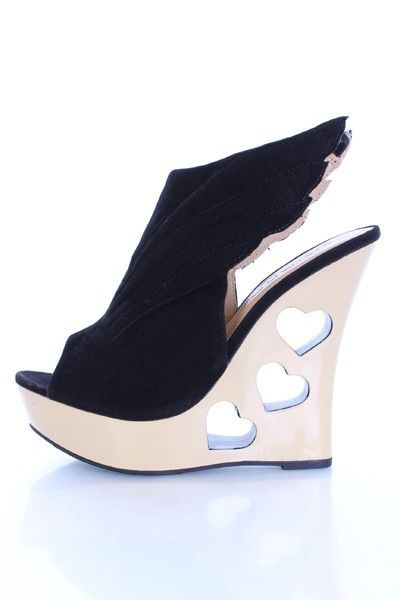 Black Faux Suede Winged Heart Cut Out Wedges @ Amiclubwear Wedges Shoes Store:Wedge Shoes,Wedge Boots,Wedge Heels,Wedge Sandals,Dress Shoes,Summer Shoes,Spring Shoes,Prom Shoes,Women's Wedge Shoes,Wedge Platforms Shoes,floral wedges,Fashion Wedge Shoes,Se