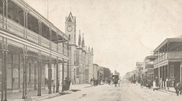 At the Turn-of-the-Century, this hand ‪#‎drawn‬ image was created. We are looking West on Commercial Street in Mount Gambier