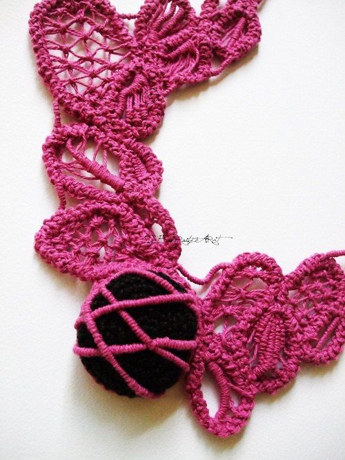 Black Pink Romanian Point Lace Photography by GreenWindowtotheSoul, $5.00