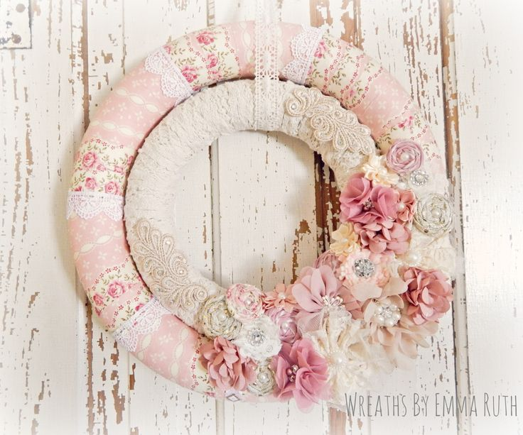 Shabby Chic Double Wrapped Wreath.   Made by Wreaths By Emma Ruth